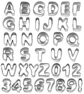 Wilton Fondant Alphabet Number Cookie Cutter Cut Outs, Set of 37