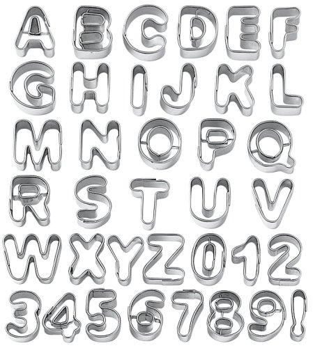 Wilton Moldes para galletas, diseño de letras y números: Amazon.es: Hogar