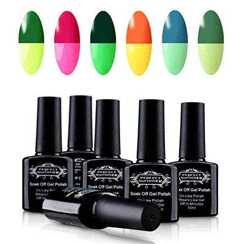 Perfect Summer Soak Off UV LED Gel Nail Polish, Mood Changin