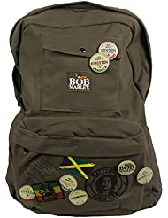 Bob Marley Rasta Jamaican Natty Dread Canvas Backpack