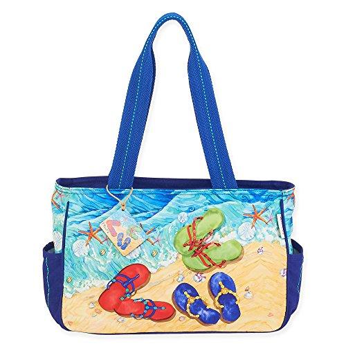 Paul Brent Tide Pool Flip Flops Medium Tote Bag (Flip Flop Purses)