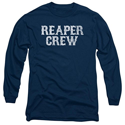 Sons Of Anarchy Reaper Crew Long Sleeve T-Shirt XX-Large Navy