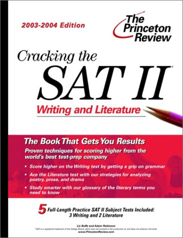 Download Cracking The Sat Ii Writing Literature 2003 2004