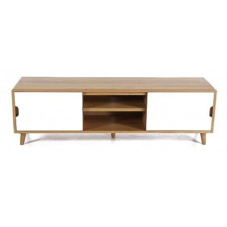 meubles zago tv stand oak formica 180 cm oak tv elfy meuble formica 180