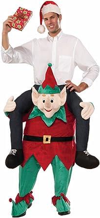 Carry Ride on Back Piggy Unisex Xmas Costume Santa Shoulder Adult Party snowman