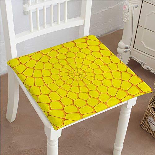 Mikihome Chair Pads Classic Design Yellow Corn Bricks in Bright Color Harvest Season Art Yellow Cotton Canvas Futon (Brick Vinyl Ottoman)