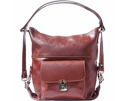 Florence Leather 061 Borsa A Zainetto Donna Nero Dark Blue blu - 207 Brown