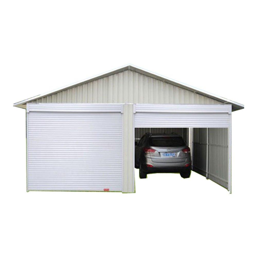 Weizhengheng CG03 light Steel Metal Car Garage with Double Sliding Door