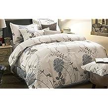100% Cotton, 3 Piece Duvet Cover and Pillow Shams Set (King Size)
