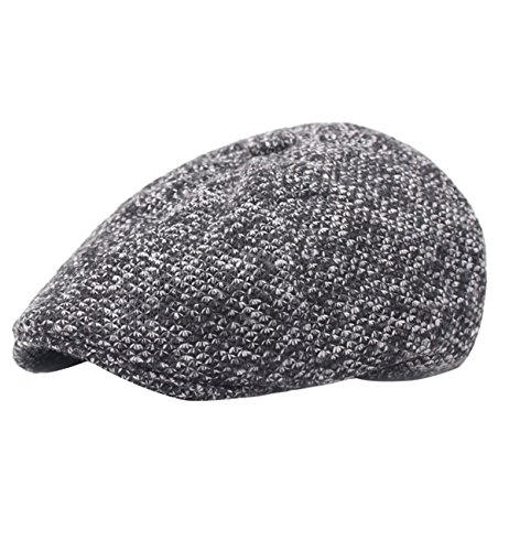 Sumolux Men Winter Earmuffs Newsboy Caps Thicker Warm Woollen Gatsby Hat (Golfing Hats)