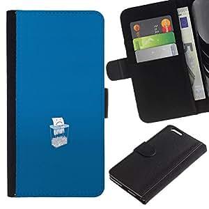 // PHONE CASE GIFT // Moda Estuche Funda de Cuero Billetera Tarjeta de crédito dinero bolsa Cubierta de proteccion Caso Apple Iphone 6 PLUS 5.5 / Save Paper /