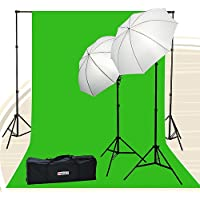 Fancierstudio Chromakey Green Screen Kit 800 watt 10x20 Ft Chroma Key Green Screen Photo Video Lighting Kit Backdrop Support System Included Ul15 10x20 Green By Fancierstudio U15 10x20 Green