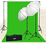 Fancierstudio Chromakey Green Screen Kit 800 watt 10x20 Ft Chroma Key Green Screen Photo Video Lighting Kit Backdrop Support System Included Ul15 10x20 Green By Fancierstudio U15 10x20 Green