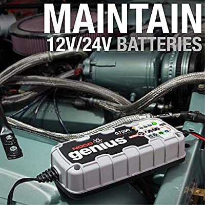 NOCO Genius G7200 12V/24V 7.2 Amp Battery Charger and Maintainer: Automotive