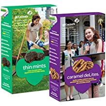 Girl Scout Cookies - Thin Mints And Caramel De Lites - 1 Box Of Each