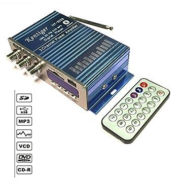 Amplificador de potencia del USB FM del coche Bluetooth, hogar 12V 3A Mini audio estéreo