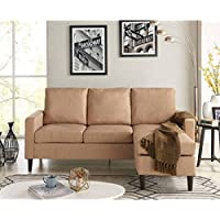 Mainstays Apartment Reversible Sectional, Sand