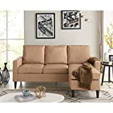 Cheap Mainstays Apartment Reversible Sectional, Sand