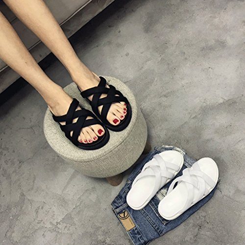 Sportive colore 0 Donna Pantofole Wear Misura Shoes Bianco Sandals Bianco Fashion 5 Summer RAxndqwp
