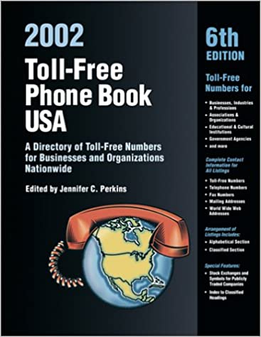Toll-Free Phone Book USA 2002: A Directory of Toll-Free Telephone