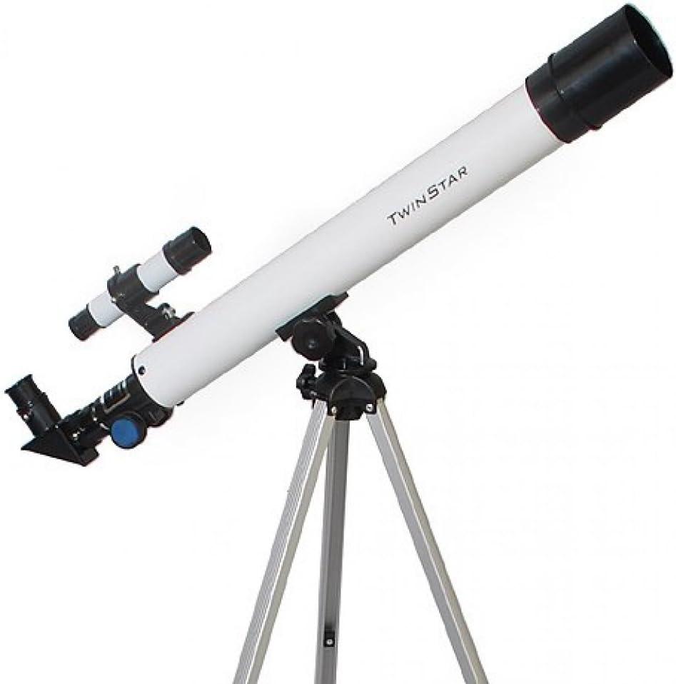 B001LT2TO4 Twin Star 50mm Beginner Compact Refractor Travel Telescope Brand (TwinStar 50mm Refractor Telescope 75x, White) 51SC6TSovaL