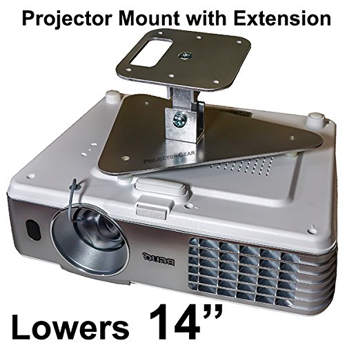 """Projector-Gear Projector Ceiling Mount for SONY VPL-CH355 with Extension Lowers 14"""""""