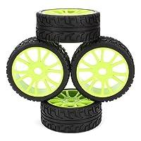 DN HSP RC 1/8 Off-Road Car 12 Spoke Hub Wheel Rims Grip Grain Tires 102mm OD (Pack Of 4)