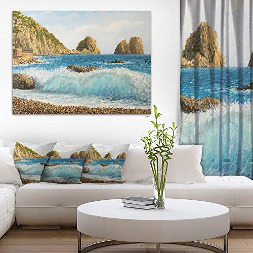 Faraglioni on Island Capri Seascape Canvas Art Print