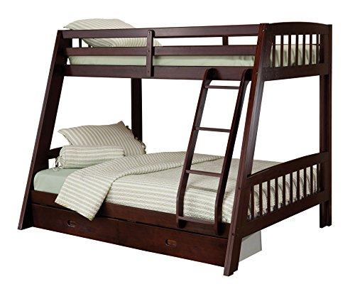 Hillsdale Furniture 1668BB Rockdale Bunk Bed, Twin Over Full, Espresso ()