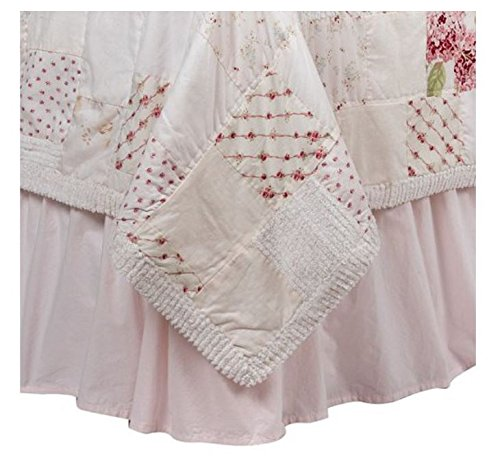- Simply Shabby Chic Solid Pink King Bedskirt
