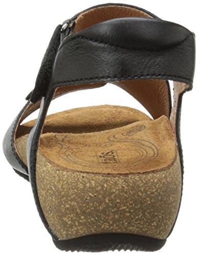 Sandalo Con Zeppa Rita Donna Taos Di Colore Nero