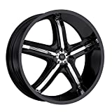MILANNI - 459 bel-air 5 - 17 Inch Rim x 7 - (5x110/5x115) Offset (38) Wheel Finish - gloss black with chrome inserts