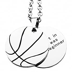 N.egret Personalized Basketball Necklaces Chain Pendants Sport Jewelry Inspirational Quote Baseball Gift Teens