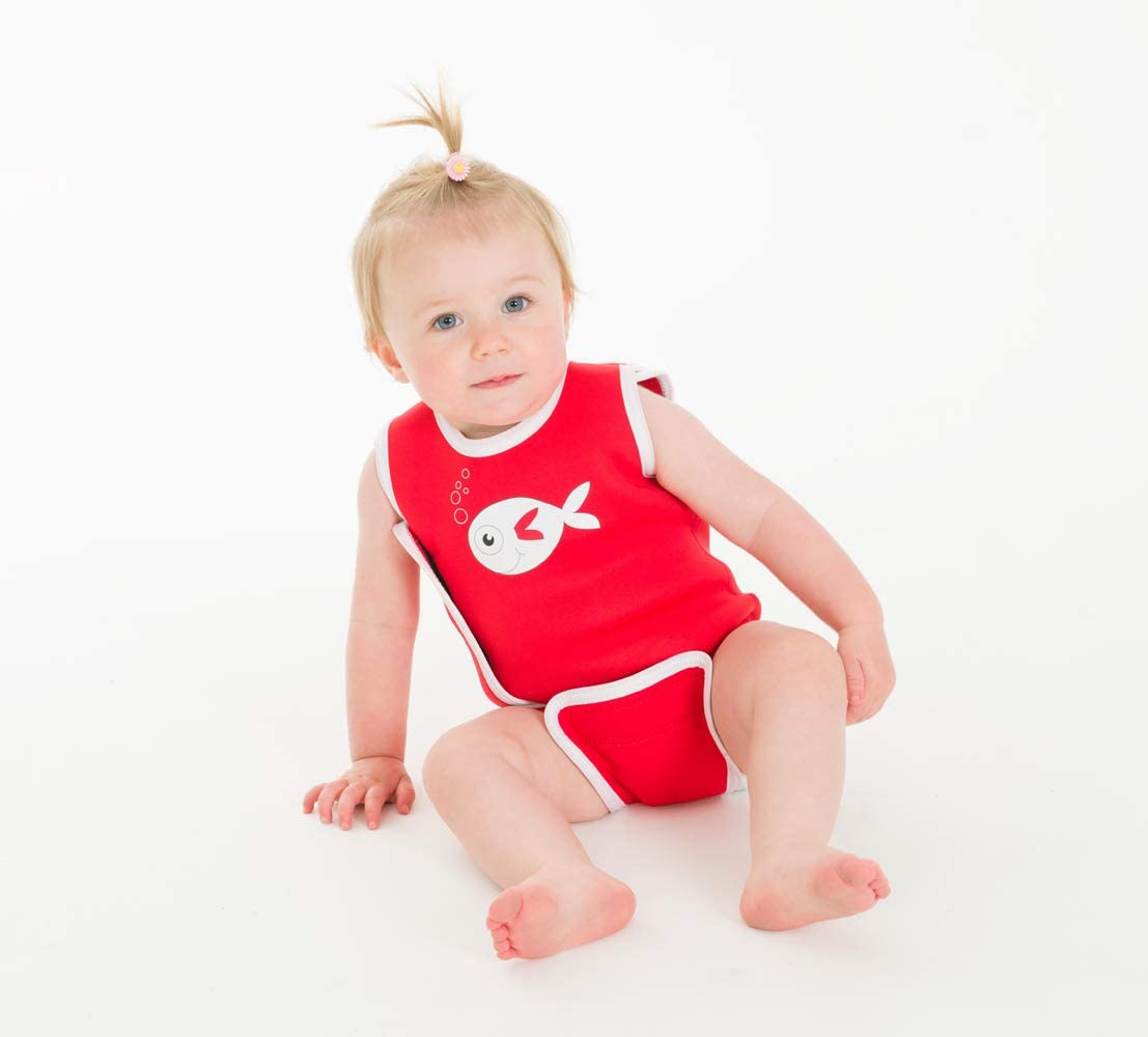 SwimBest Baby Wetsuit /& Nappy Set Red Fish-6-12 mths//8-11 kgs