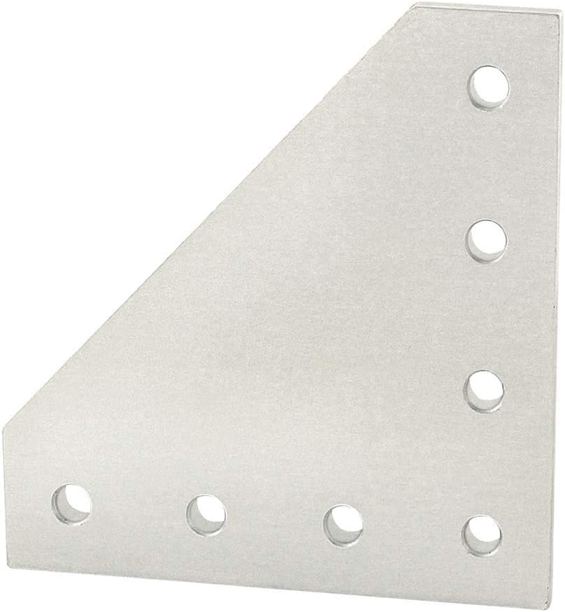 25-4152 80//20 Inc 25 Series 7 Hole 90 Degree Angled Squared Flat Plate 10 Pack