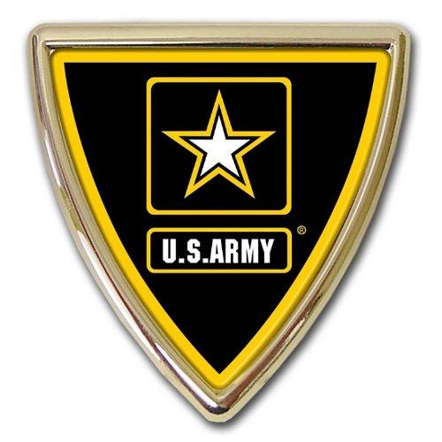 Army (Shield) Chrome Auto Emblem - Shield Emblem