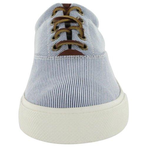 Polo by Ralph Lauren Men's Vaughn Cotton Lace-Up Fashion Sneaker Blue 10 M US