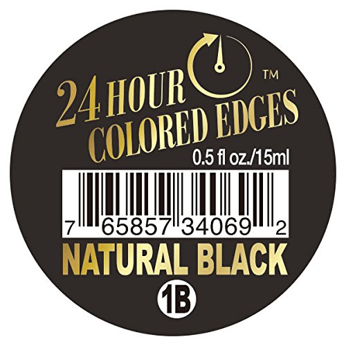 Ebin New York 24 Hour Colored Edges .5 oz 1B Natural Black - Edge Natural