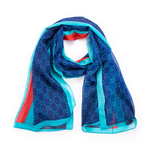 NYKKOLA Women's Silk Like Scarf Cozy Lightweight Scarves Sunscreen Shawl Wrap For Women (blue2)