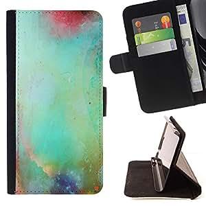 Momo Phone Case / Flip Funda de Cuero Case Cover - Pastel Naturaleza Glass borrosa trullo - Huawei Ascend P8 Lite (Not for Normal P8)
