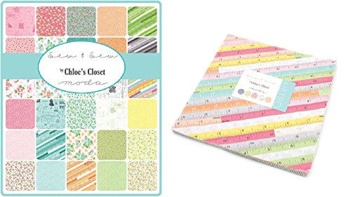 Sew & Sew Layer Cake, 42-10'' Precut Fabric Quilt Squares By Chloe's Closet by MODA