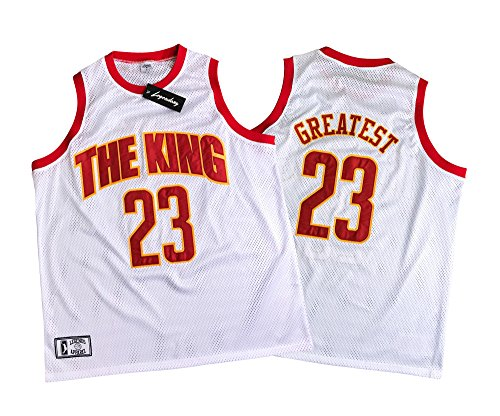 Men's Lebron The King Limited Edition Jersey (Medium) - Kings White Jersey