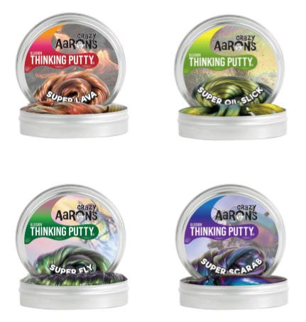 Crazy Aaron's 4 Pack Putty Mini Tin Assortment - Super Illusions