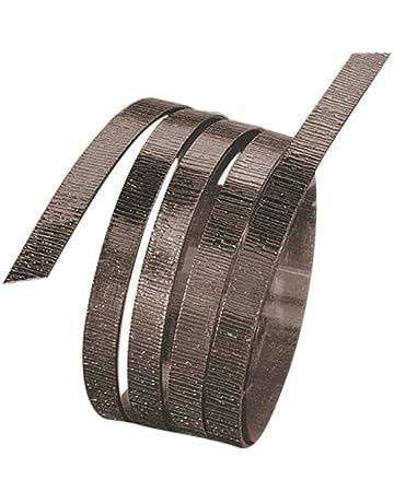 Inalámbrico Aluminio Plana con Relieve estriado, anodizado, 5 mm x 1 mm, Long