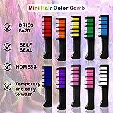 kalolary 10 Color Temporary Hair Color Chalk Comb