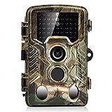 H&O 16MP 1080P HD Game & Trail Hunting Camera 46 Pcs Low Glow Black Infrared LEDs 2.4 Inch TFT LCD Display 125° Wide Angle PIR Sensor & Detection Range 82ft Night Vision Waterproof IP56 (16MP)