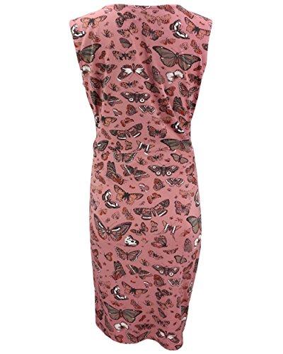 KHUJO Damen Kleid MORGANA Jerseykleid Schmetterlinge Wickel-Optik Sommer