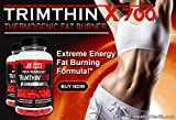 Trimthin X700 Hyper-Thermogenic Weight Control with Maximum Appetite Suppression and Energy Manufactured in USA From Clinically Researched Ingredients 120 Capsules