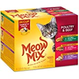Meow Mix Tender Favorites Poultry and Beef Variety Pack Wet Cat Food, 2.75 oz, 24-Count