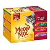 Meow Mix Tender Favorites Wet Cat Food Poultry and Beef 24 pack